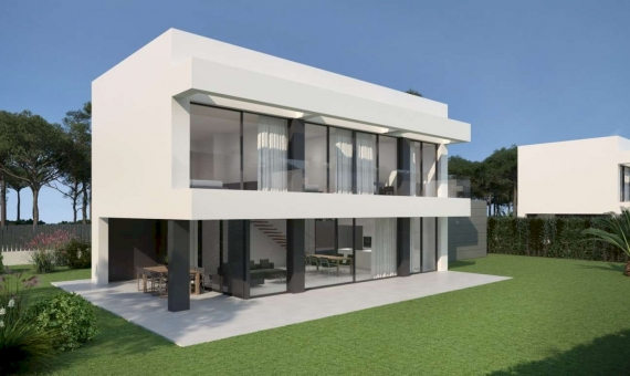 Newly built townhouses with a swimming pool in Begur | 2018-08-01-casas-begur-02a-570x340-jpg